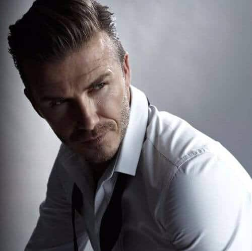 david beckham hair combed top and shaved parts