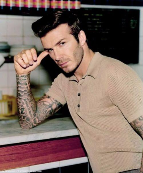 david beckham hair dark and long top