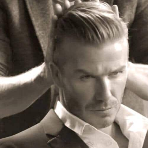 david beckham hair fifties style