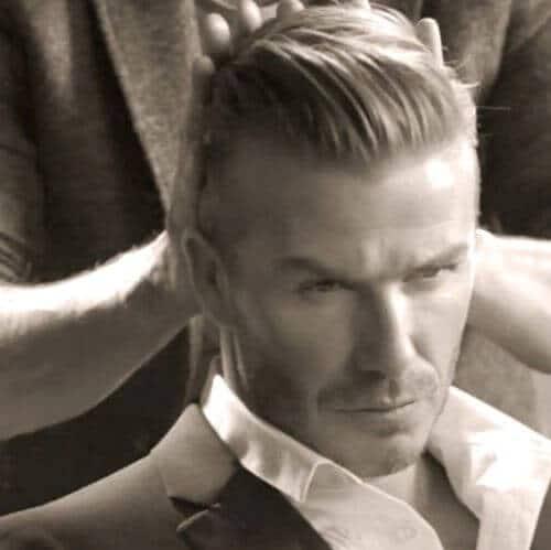 david beckham hair fifties style