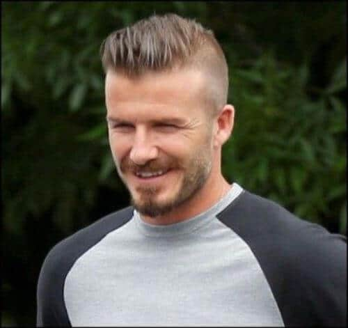 david beckham hair half shaved faux mohawk