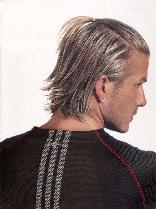 david beckham hair long back and fishtail