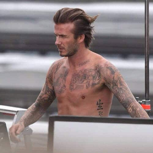 david beckham hair long swept back