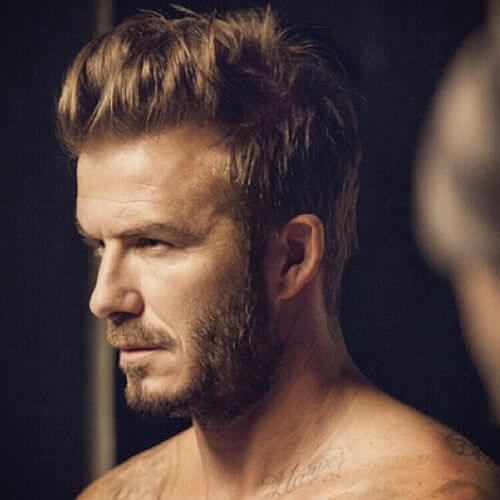 david beckham hair messy blonde