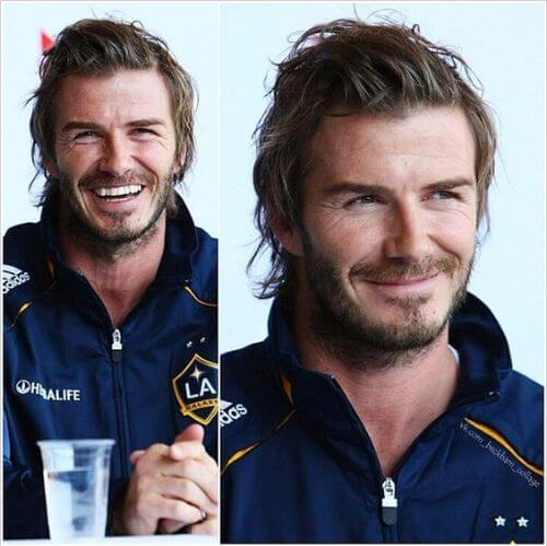 david beckham hair messy hair and beard