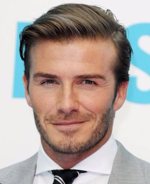 david beckham hair parted long hair