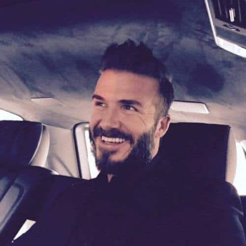 david beckham hair shaved parts and spiky long top