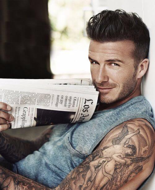 david beckham hair shaved side parts and spikes