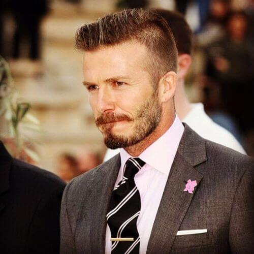 david beckham hair spiky top and shaved parts