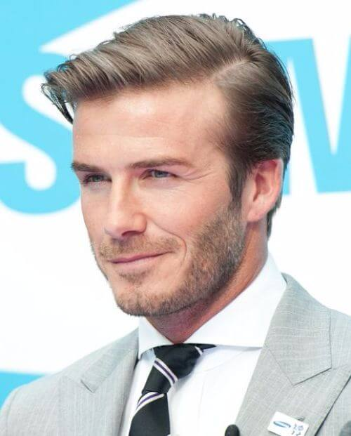 david beckham hair stylish side part