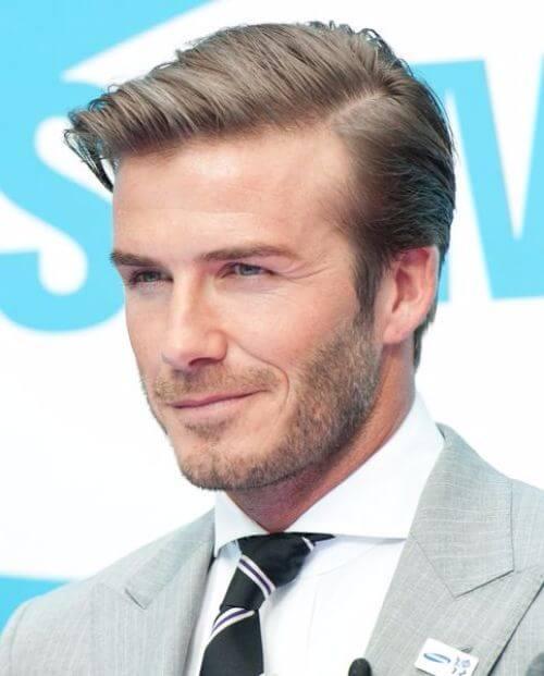 david beckham hair stylish side part