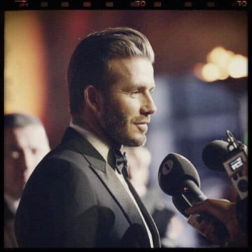 david beckham hair stylish swept back