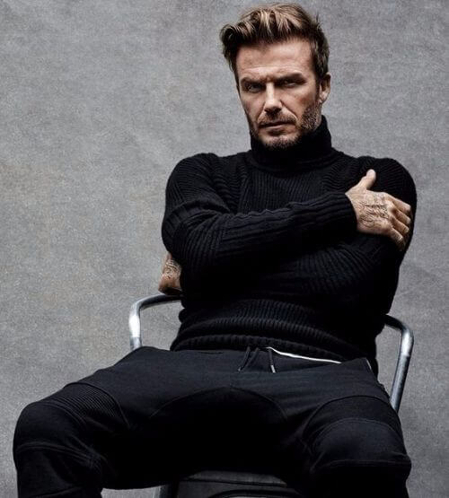 david beckham hair untrimmed beard and messy long top