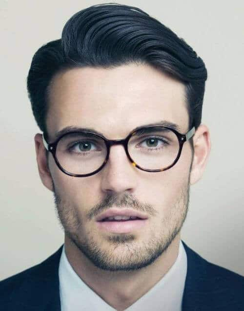 elegant hipster haircut for men with dark hair