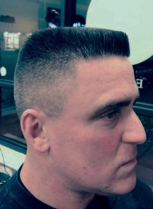 flat top military haircut