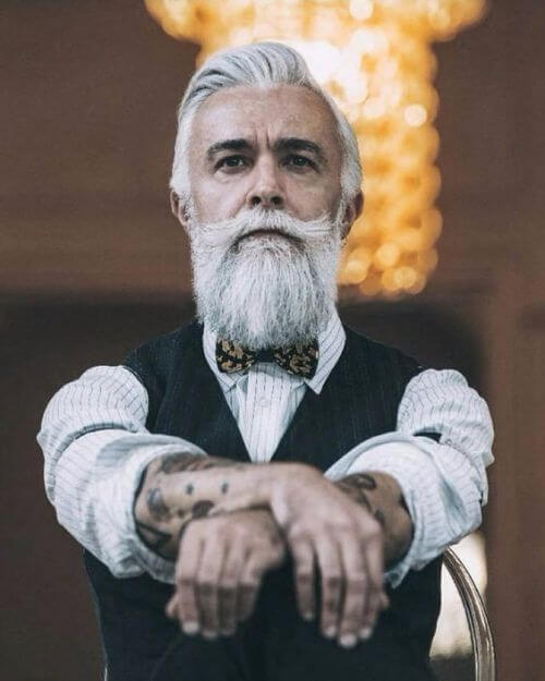 hipster haircut for white hair