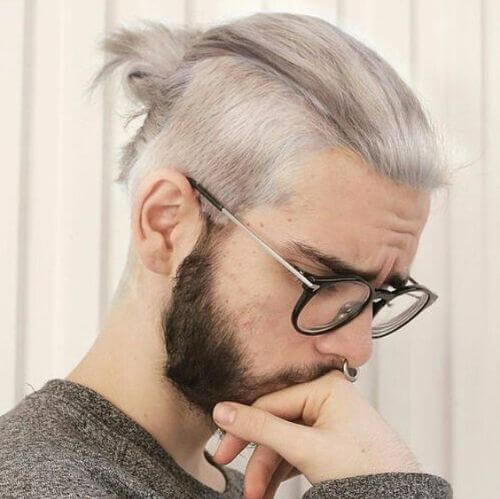 hipster haircut with man bun