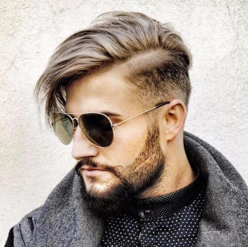 long top and low fade hipster haircut
