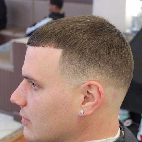 low fade caesar buzz cuts