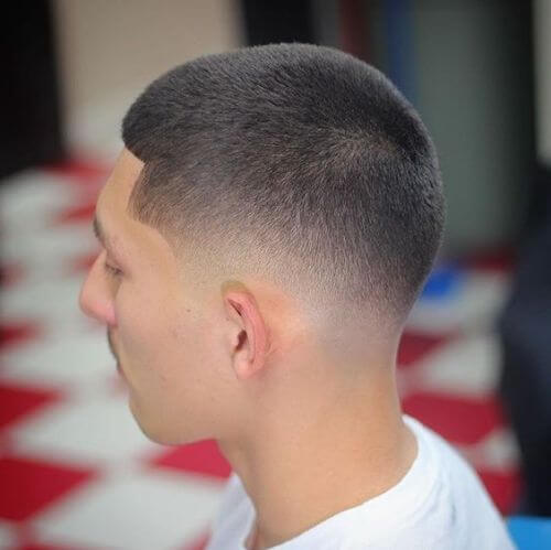 short military haircut