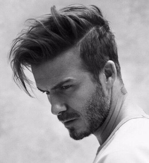 david beckham hair short side long top