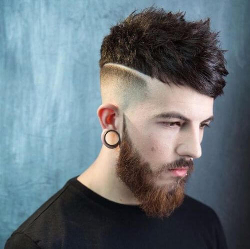 skin fade and long spiky top hipster haircut