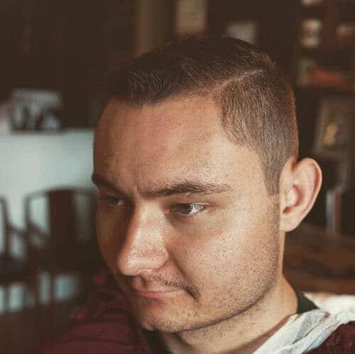 smart military haircut