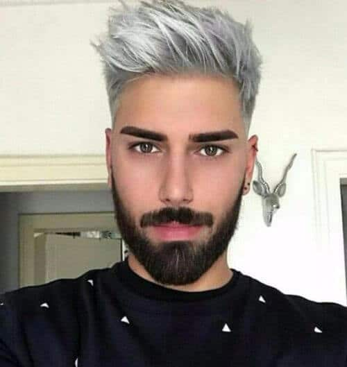 spiky silver hipster haircut