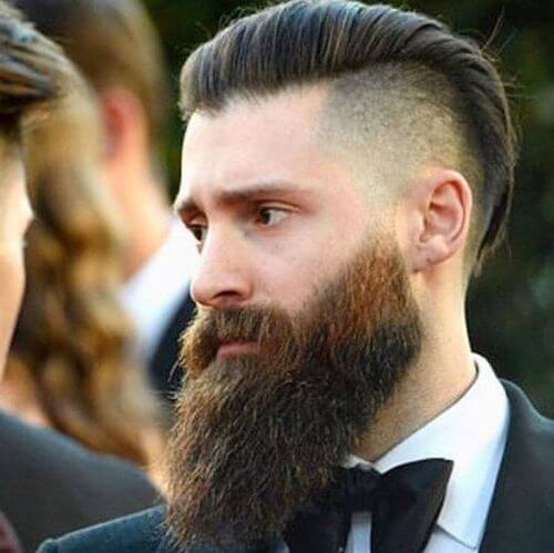 hipster haircut swept back and skin fade