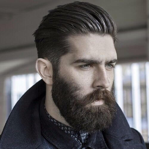 swept back hipster haircut