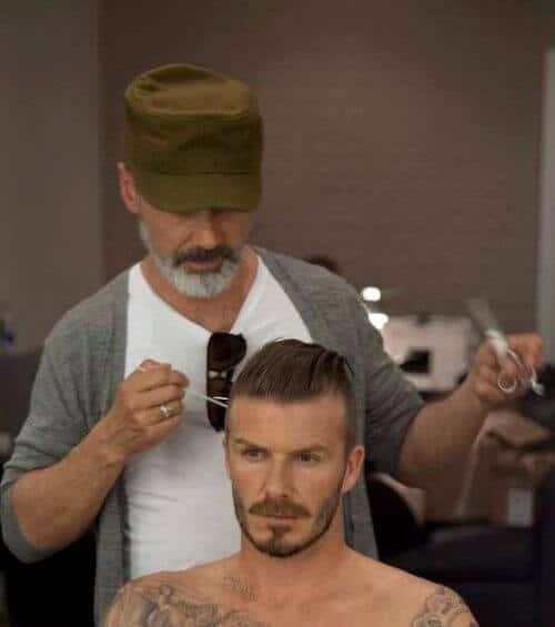 David Beckham Hair Swept Over