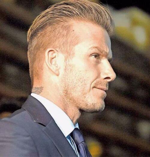 david beckham hair undercut comb over
