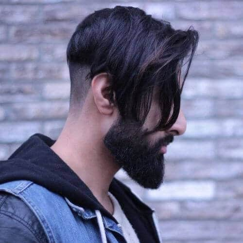 undercut, medium-lenght side and short side hipster haircut