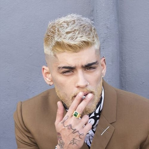 blonde beard zayn malik haircut