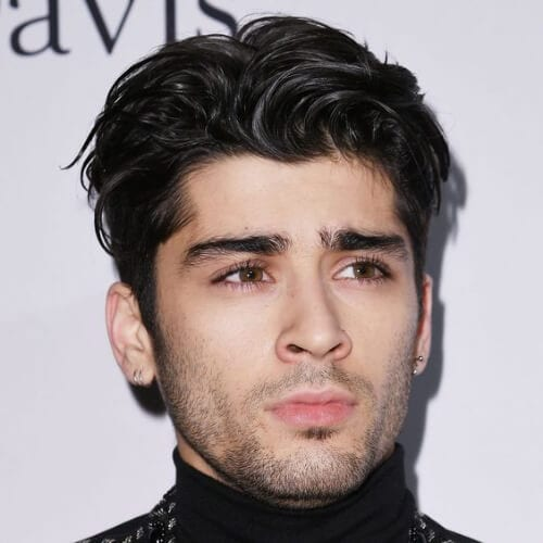 layered zayn malik haircut