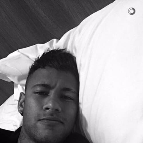 neymar haircut bed head selfie