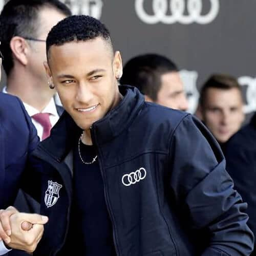 neymar haircut short