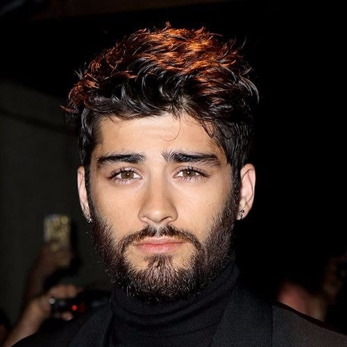 zayn malik haircut and large beard