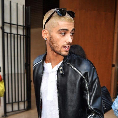 zayn malik haircut blonde buzzcut