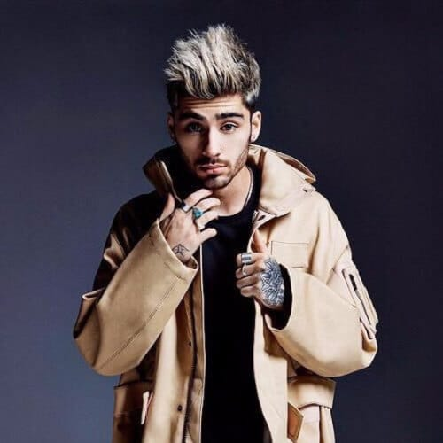 zayn malik haircut blonde hair