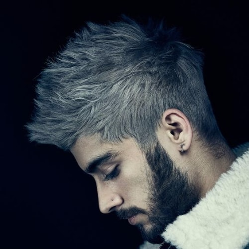 zayn malik haircut grey hair