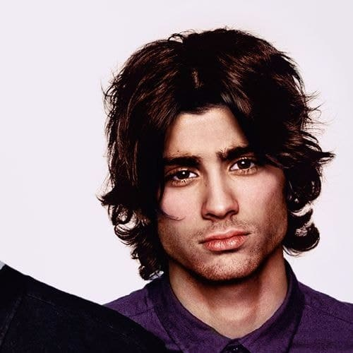 zayn malik haircut middle parting