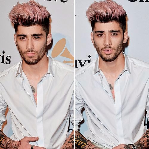 zayn malik haircut pink hair