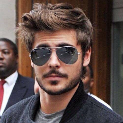 Zac Efron Hair Brown and Messy