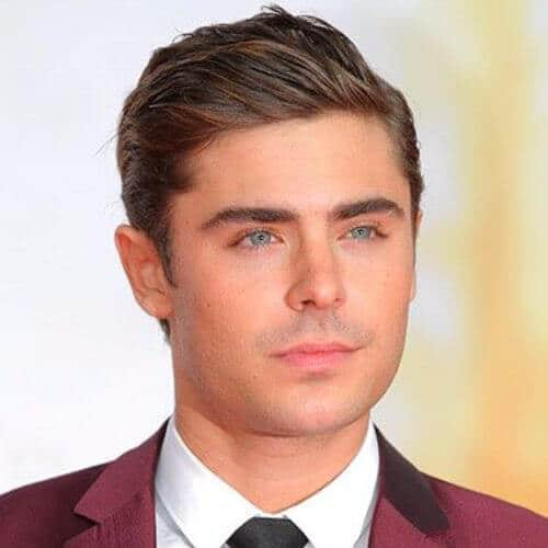 Zac Efron hair Formal side parted and combed over