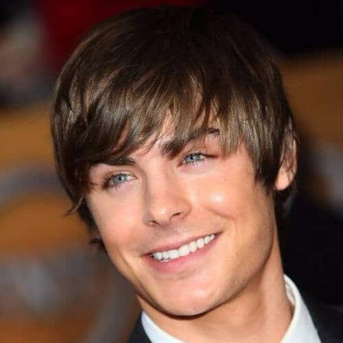 Zac Efron hair Side Swept Bangs