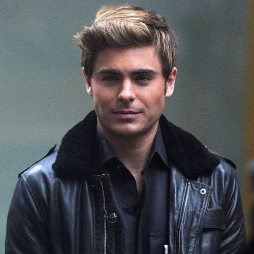Zac Efron Hair Side parted and short quiff