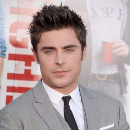 Zac Efron hair Spikes with sideburns