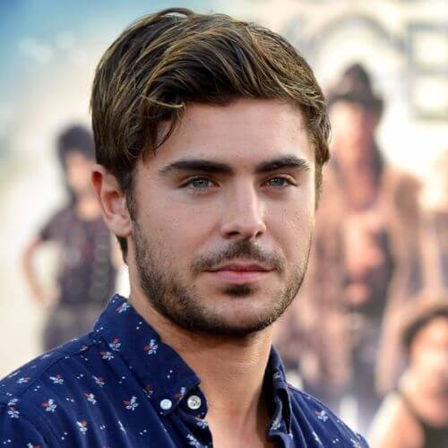 Zac Efron Hair Informal Side Parted