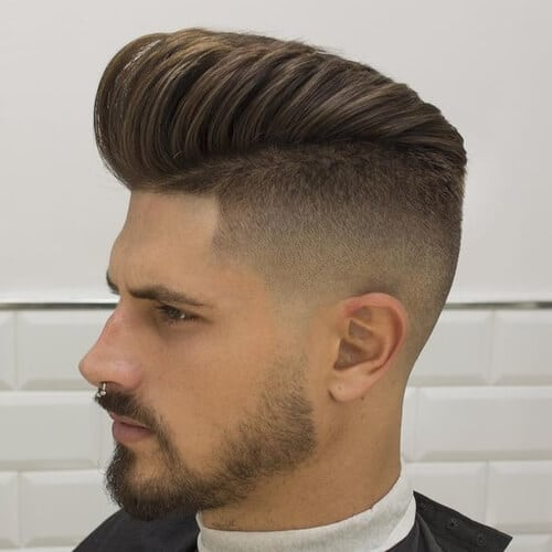man with beard and high and tight